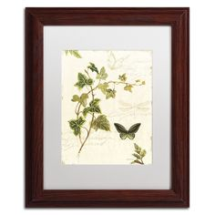 Ivies and Ferns IV by Lisa Audit Matted Framed Painting Print