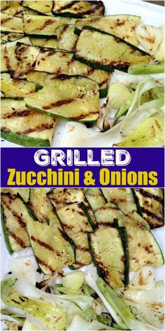 Grilled zucchini & spring onion are one of summer's best dishes! With just a little olive oil and a sprinkle of salt and pepper, you've got a delicious side dish in no time.