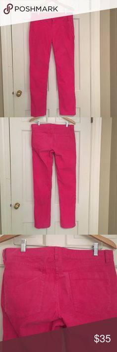 J. Crew Hot Pink Straight Leg Corduroy Pants I LOVE these pants. They just don't fit anymore. They are fun and exciting and very comfortable. I wore them for fun and to my internship when they fit. Very versatile. J. Crew Pants Straight Leg