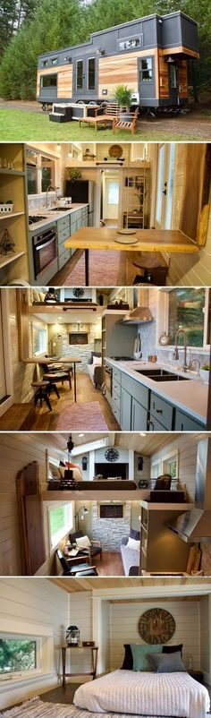 The Big Outdoors Tiny Home from Tiny Heirloom Ideen für dein Tiny Haus ,Tiny H. The Big Outdoors T Tiny House Movement, Tiny House Plans, Tiny House On Wheels, Home Improvement Grants, Small Beach Houses, Tiny House Living, Living Room, Living Area, Tiny Spaces