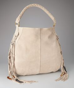 Take a look at this Taupe Fringe Bo Hobo by Linea Pelle on #zulily today!