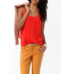 forever 21: Essential Woven Racerback Tank