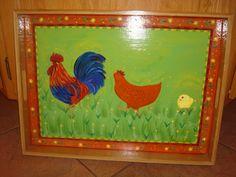 Cabaret en bois peinture acrylique et vernis