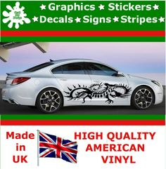 """21"""" High Car Side Stripes Graphic Decal Vinyl Stickers Van Auto Rally Race F1_58"""