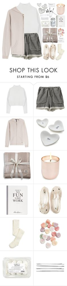 """""""2171. Could you stay with me in my bed? I need medicine."""" by chocolatepumma ❤ liked on Polyvore featuring Dion Lee, Zoe Tee's, Woolrich, Crate and Barrel, UGG Australia, Jonathan Adler, Selfridges, Cara, Vita and women's clothing"""