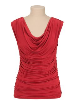 drape neck sleeveless top from Maurices. I have several of these and they are literally my FAVORITE tops. I want one in every color. They are comfortable, not thin, flattering, dressy and add that POP of color.