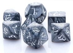 Elven Dice (Classic Smoke) | RPG Role Playing Game Dice Set