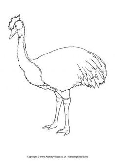 Emu Colouring Page 2 Aboriginal Symbols, Aboriginal Art, Zoo Coloring Pages, Colouring, Custom Woodworking, Woodworking Projects Plans, Animal Line Drawings, In The Zoo, Australian Animals