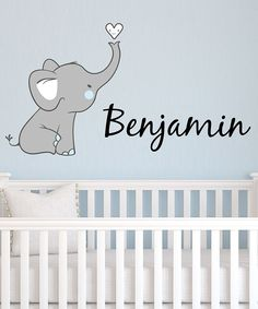 Look at this Gray Elephant Personalized Decal on #zulily today!