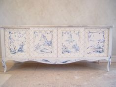 Custom Furniture Painting - Chinoiserie Hand Painted Design