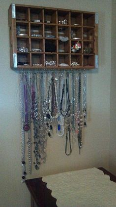 My new (used parts) necklace & bracelet holder that I made