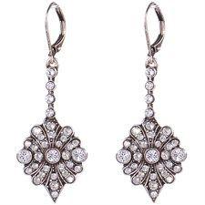 Silver Shade Crystal Earrings