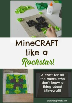 Minecraft Art Project designed with your Minecraft obsessed kid in mind. Make a creeper in a day. Great fine motor and design task. Great for kids from about Minecraft Classroom, Minecraft Activities, Easy Minecraft Houses, Minecraft Art, Minecraft Crafts, Classroom Crafts, Activities For Kids, Minecraft Skins, Minecraft Buildings