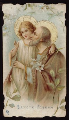 Saint Joseph holy cards