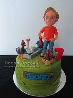 Doces Opções: O Pedro e os seus animais Cake, Desserts, Food Cakes, Animales, Agriculture, Pie Cake, Tailgate Desserts, Pastel, Cakes