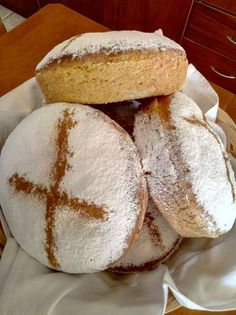 Άρτος Greek Recipes, Vegan Recipes, Food Gallery, Bread Cake, Gluten Free Cookies, Dinner Rolls, Food Art, Vanilla Cake, Bakery