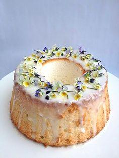 Make a tasty homemade glaze with this Edible Flower Sponge Cake recipe.