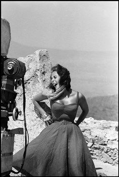 Burt Glinn, Elizabeth Taylor in Suddenly Last Summer Spain 1959