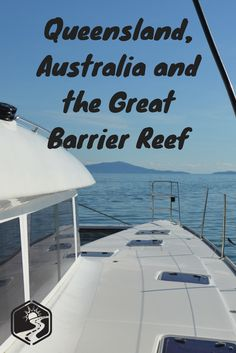 A catamaran tour out tot he great barrier reef in queensland, australia