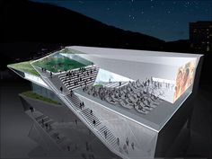 Diller Scofidio + Renfro: Museu da Imagem e do Som, Rio de Janeiro Mais Cultural Architecture, Auditorium Architecture, Cinema Architecture, Auditorium Design, Museum Architecture, Concept Architecture, Contemporary Architecture, Landscape Architecture, Culture Art