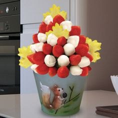 Happy Canada Day  We are all Canadian! This fresh fruit arrangement is great for Canada Day or Victoria Day or any other day you want to celebrate Canada… Combination of delicious strawberries and white chocolate dipped strawberries plus pineapple maple leafs! You can change the options.  - www.VaaV.ca
