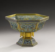 A CLOISONNE ENAMEL FOOTED BOWL  QING DYNASTY, 18TH CENTURY AND LATER