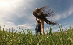 let your hair flow. take a walk in nature. enjoy the sunshine. Love life. Be happy. Be Love.