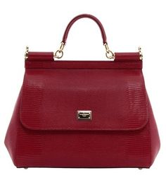 Dolce&Gabbana Iguana-embossed Medium Miss Sicily Red Tote Bag. Get one of the hottest styles of the season! The Dolce&Gabbana Iguana-embossed Medium Miss Sicily Red Tote Bag is a top 10 member favorite on Tradesy. Save on yours before they're sold out!