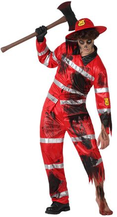 Disfraz de bombero zombie hombre Disponible en http://www.vegaoo.es/disfraz-de-bombero-zombie-hombre.html?type=product