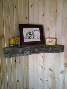 barnwood corner shelf