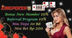 Situs Poker Judi Online - Kingpoker99 Situs Poker Judi Online yang memberikan pelayanan deposit selama 24 jam dan membagikan bonus rolingan setiap minggu nya