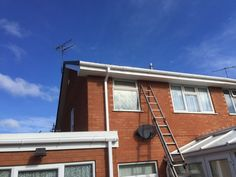 And white  #upvcfascia  #soffits and  #guttering #Frenchdoors, #patiodoors, #FasciaSoffitsguttering, #Cladding, #Conservatives, #Flatrubberroofs