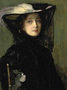 Sir John Lavery  Mary in black