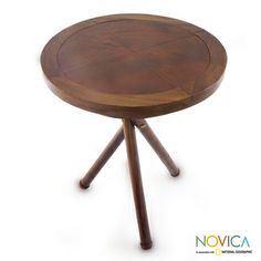 Teakwood and Leather Accent 'Jogja Innovations' Table (Indonesia)
