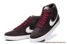 scarpe calcio Mid PRM Suede Marrone burgundy Nike Blazer 371760-206 Uomo