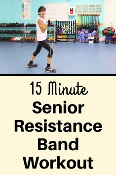 Senior Resistance Band Workout This resistance band workout for seniors will build muscle mass, tone your arms, back and legs, improve balance and increase bone density. Angina Pectoris, Senior Fitness, Senior Workout, Build Muscle Mass, Balance Exercises, Chair Exercises, Stretching Exercises, Resistance Band Exercises, Resistance Band Training