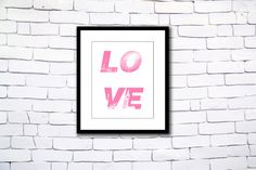 Valentine Print Typographic poster by GEyesPhotography on Etsy What Makes You Happy, Are You Happy, Typographic Poster, Typography, Office Quotes, Love Wall Art, Quotes White, The Best Is Yet To Come, Quote Prints