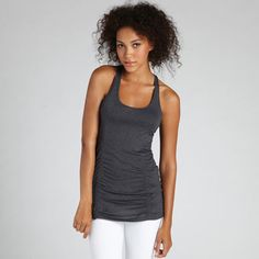 The Beyond Yoga Racerback Drawstring Tank of the Ethereal Collection is luxuriously soft and light as a feather