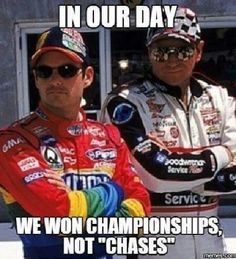 Yes! Gordon would have 7 championships if NASCAR didn't make the stupid Chase! Nascar Champions, Sports Figures, Nascar Memes, Nascar Cars, Nascar Racing, Racing News, Race Cars, Auto Racing, Real Racing
