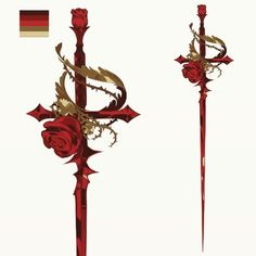 15 new Ideas for concept art characters fantasy weapons Fantasy Sword, Fantasy Weapons, Fantasy Art, Rapier Sword, Rose Thorns, Sword Design, Anime Weapons, Weapon Concept Art, Character Design Inspiration