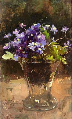 Esther Kjerner 1873-1952. Flower Still Life