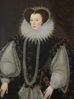 Elizabeth Sydenham, Lady Drake by George Gower    Date painted: c.1585 Oil on panel, 105.5 x 79.5 cm Collection: Plymouth City Council: Museum and Art Gallery Where to see this painting? Buckland Abbey Yelverton, Devon, England, PL20 6EY