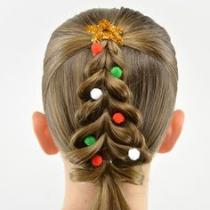 Christmas Tree Pull-Through Braid - Babes in Hairland