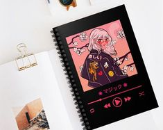 Notebook Cover Design, Notebook Art, Notebook Covers, Bullet Journal Art, Bullet Journal Ideas Pages, School Book Covers, Anime Crafts, Kawaii Crafts, Sketchbook Cover