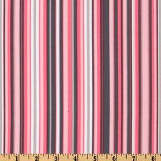 One 1  Yard  Play Stripe Pink Gray Michael Miller by ShuShuStyle, $9.95