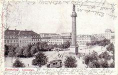 Darmstadt Luisenplatz Straßenbahn 1904