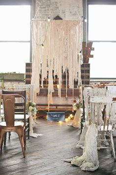 Industrial Wedding Ceremony Decor Ideas