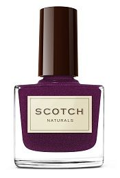 "Scotch Naturals - ""Widow Woods Night Cap"" - an extreme shimmering aubergine hue + it's vegan, cruelty-free, gluten free, toxin free, paraben free, hypoallergenic, biodegradable"