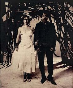 Helen Bonham Carter and Tim Burton