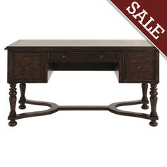 Corinne Desk Dist Antique Brown